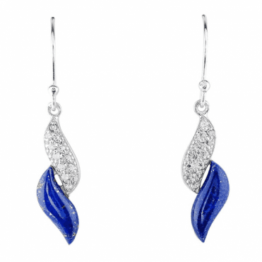 Lapis & White Topaz Earrings for Only £40