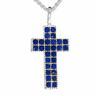 Lapis Lazuli Verona Cross