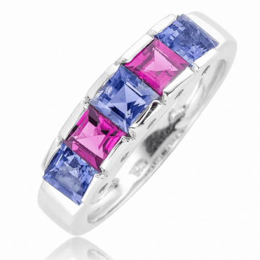 Vibrant Geometry for 2cts of Iolite & Rhodalite Garnet