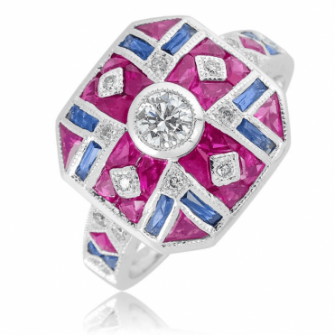 A Very British Celebration in Ruby, Sapphire, Diamond