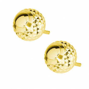 Minaret Inspired 9ct Yellow Gold Studs