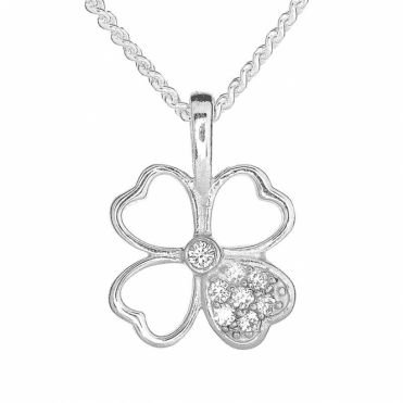 Fairy Sparkle on a Petite Lucky Four Leaf Clover