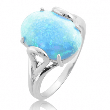 6cts of Ice- Bright Blue Opal