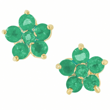 18ct Gold Plating & A Dozen Emeralds for Only £40!