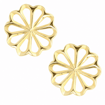 Delicate Flower Studs in 9ct Gold