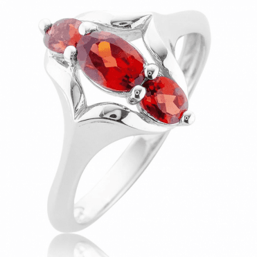 Sterling Silver Art for One Full Carat of Garnets