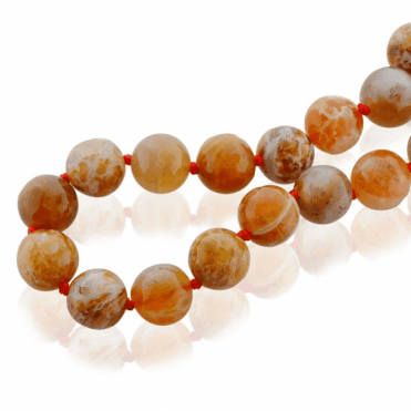 """28"""" Extravagance of Smooth Brandy Opals"""