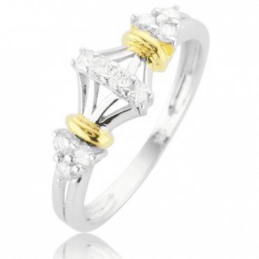 Tsarina 0.33ct Diamond Ring in Geometric 9ct Gold