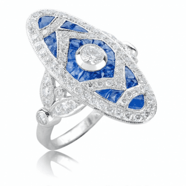 Sapphire & Diamond Heirloom Ring