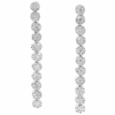 18ct White Gold and 1ct Diamond Earrings