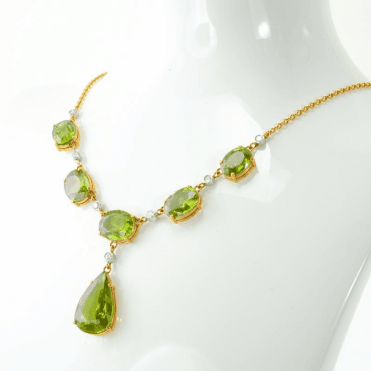 30cts of Fine Quality Himalayan Peridot in 18ct Gold