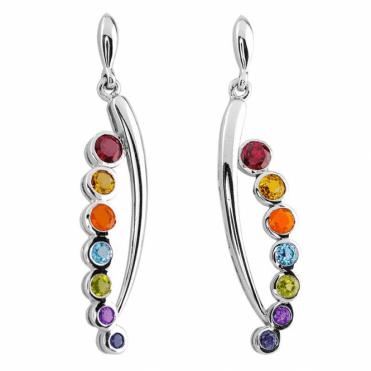Wear the Rainbow in Brightly Jewelled Earrings