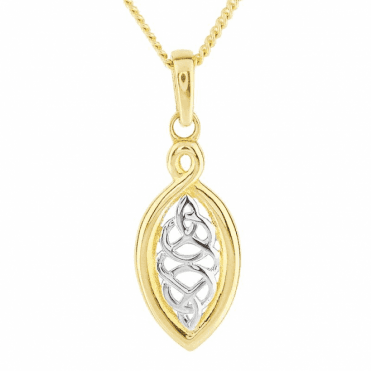 Celtic Pendant with Tonal 9ct Gold Artistry