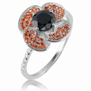 Poppy Ring Pavé Set for Memorable Brilliance