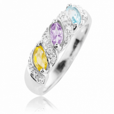 Mermaid Ring Jewelled with Ocean Colours  Only £35