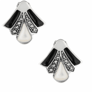Clip Fitting Dramatic Fan Dance Earrings