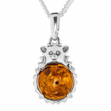 Befriend a Hedgehog in Sterling Silver & Amber