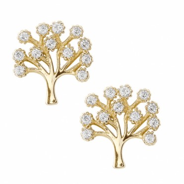 Tree of Life with Sparkling Cubic Zirconia