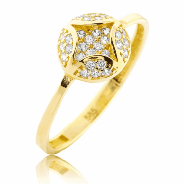 9ct Gold Ring with an Empress Sparkle
