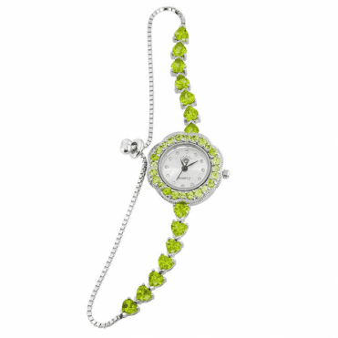 11cts of Freshly Picked Peridots Adorn an Adjustable Watch