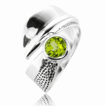 Protective Ring with a Watchful Eye of Peridot