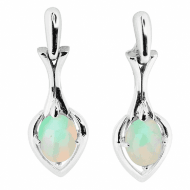 Glorious Quality 1.8ct Opal Cabochon Earrings