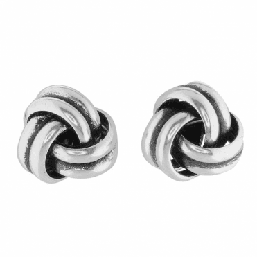 Substantial Silver Knot Earrings Only £20