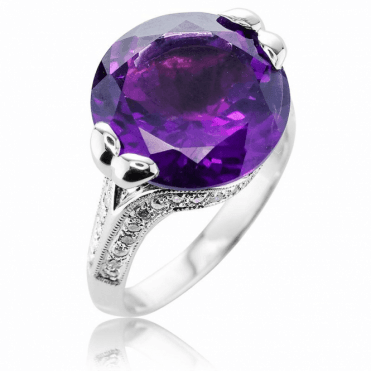 White Gold Glory with nearly 8cts of Amethyst & Diamond