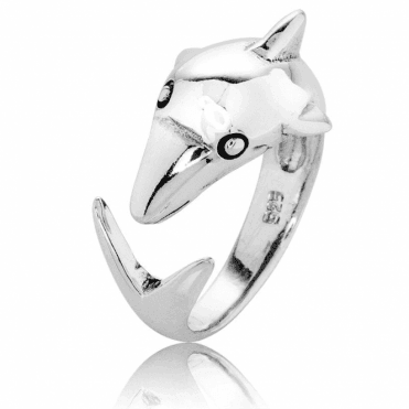 Silver Dolphin forms an Easy Fitting Ring