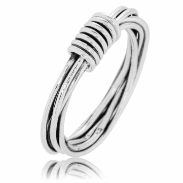 Hand Woven Silver Byzantine Twist Ring - Only £20