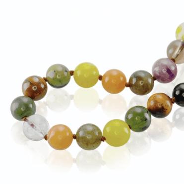 450cts of Gemstone Beads in Rainbow Abundance
