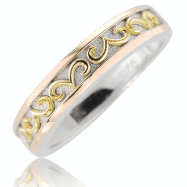 Silver & Gold Plated Ring with Classical Symbolism