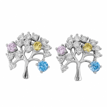 Colours of Life on Sparkling Silver Trees Only £15