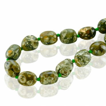 300cts of Rainforest Jasper Flecked by Time