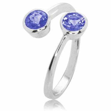 1.2ct Tanzanite Comfort Fit Ring