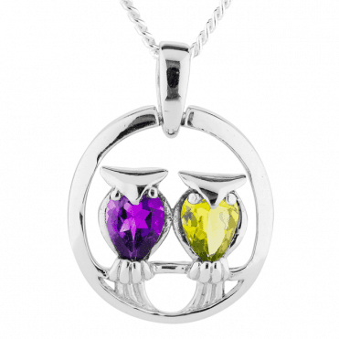 Amethyst & Peridot Owls to Woo your Heart
