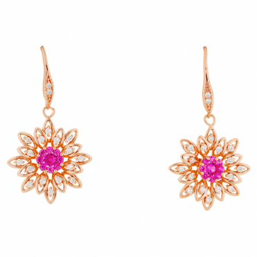 Pressed Flower Earrings Plated with Rose Gold Only £30