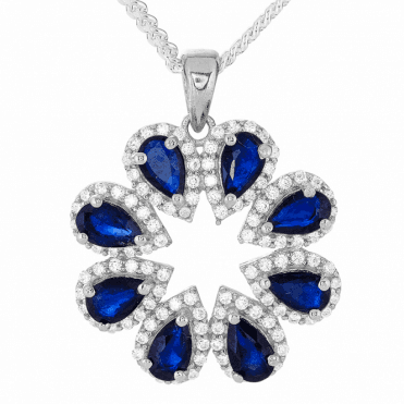 A Design Triumph with 2cts of Blue Sapphire