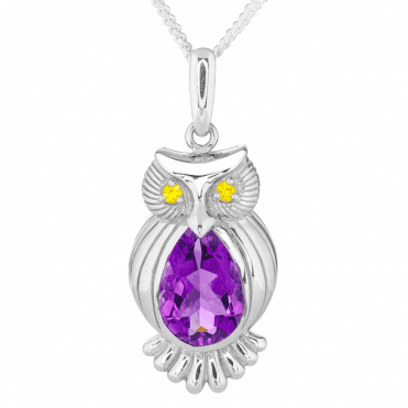 Owl Magic with 2cts of Intense Brazilian Amethyst