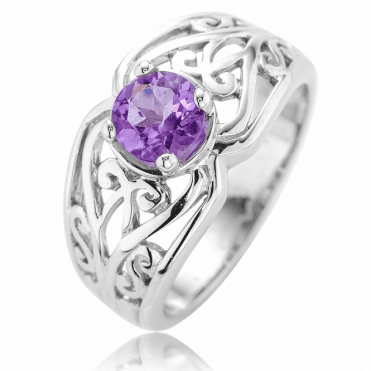 Finement Ouvragé with Sterling Silver & Amethyst