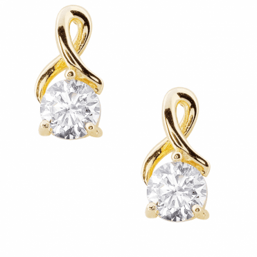 Secret Sparkle & 9ct Gold Create Classic Solitaire Earrings