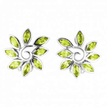 Garden-Bright Earrings with Marquise Peridot