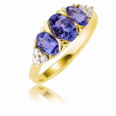 A Glittering Showpiece with Tanzanite & Diamonds