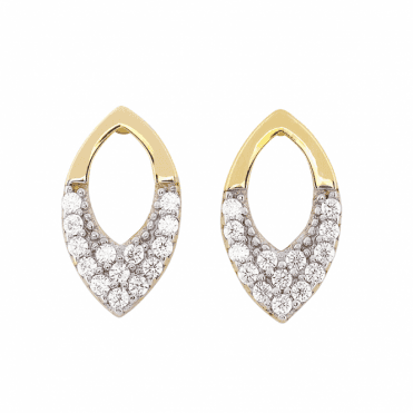 Marquise Elegance for 9ct Gold Pavé Earrings