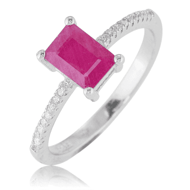 11/2ct Octagonal Cut Ruby Ring Only £40