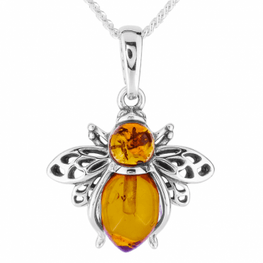 Precious Bumblebee in Baltic Amber