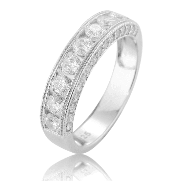 Sparkling Channel Set Half Eternity Ring (Shh, its Only £40)