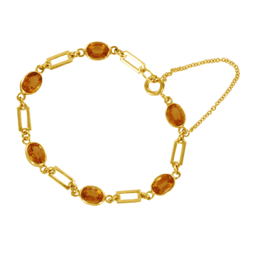 Ladies Shipton and Co Exclusive 9ct Yellow Gold and Citrine Bracelet AY1171CI