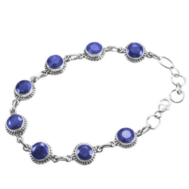 Ladies Shipton and Co Silver and Blue Sapphire Bracelet TMV055BS