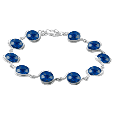 Ladies Shipton and Co Silver and Lapis Lazuli Bracelet TFE265LL